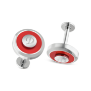 S.T. Dupont Cufflinks Jeton Collection, Red