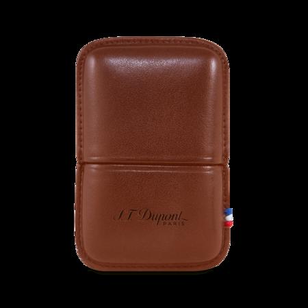 S.T. Dupont Lighter Ligne 2, Brown / Case