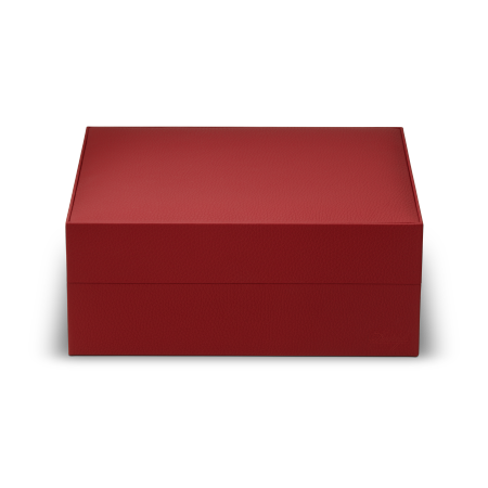 Davidoff Primos Leather Humidor, Red / Cowhide Leather