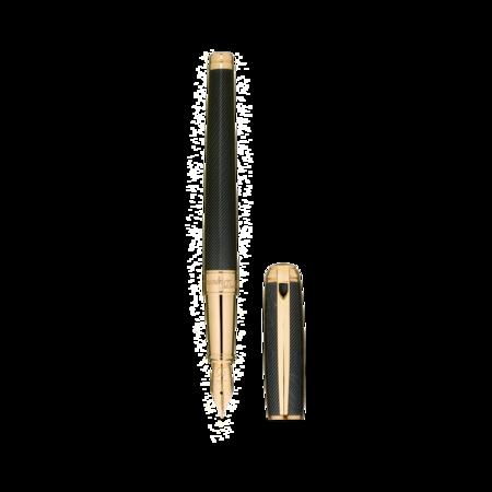 S.T. Dupont James Bond 007 Line D Pen, Fountain / Black Lacquer & Gold