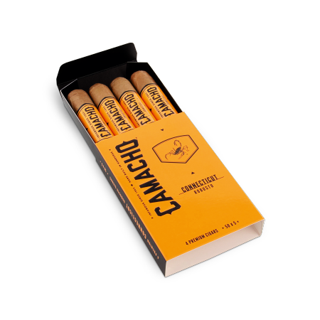 Camacho Connecticut Robusto, Pack of 4