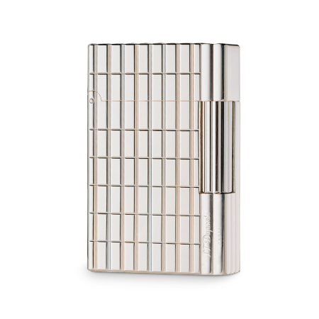 S.T. Dupont Gatsby Lighter, Silver Crossed Lines