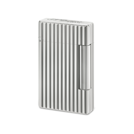 S.T. Dupont Lighter Initial, Silver / Vertical Line