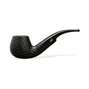Davidoff Apple Half Bent Pipe, Sandblasted Black
