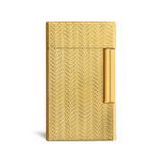 Davidoff Double Flame Lighter 'Year of the Sheep', Gold Plated / Gilded Finish