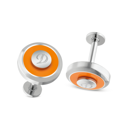 S.T. Dupont Cufflinks Jeton Collection, Orange Bright
