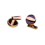 S.T. Dupont Cufflinks D Collection, Rose Gold / Blue