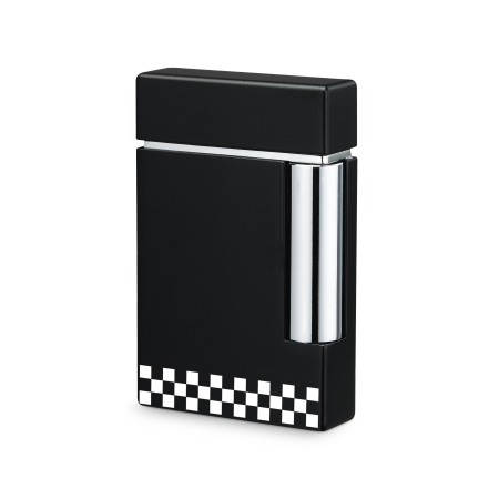 S.T. Dupont Ligne 8 Lighter, Black / White Check