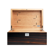 Davidoff No 1 Humidor, Macassar / Palladium Fittings