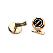 S.T. Dupont Cufflinks D Collection, Gold Logo / Black