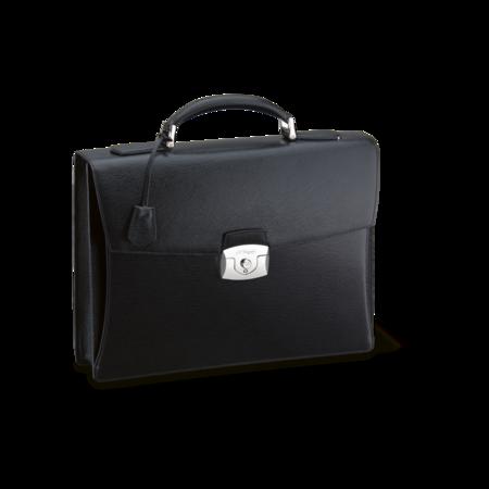 S.T. Dupont Briefcase Line D Gusset, Black / Contraste