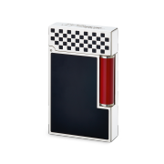S.T. Dupont Ligne 2 'Grand Prix' Lighter, Black / White / Red