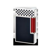 S.T. Dupont Ligne 2 'Grand Prix' Lighter, Black / White / Red
