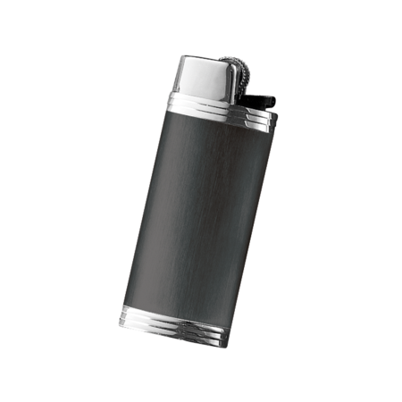 Davidoff Mini Lighter Sleeve, Black / Stainless Steel