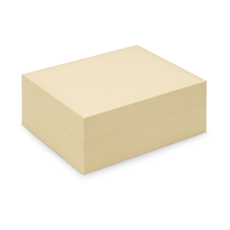 Davidoff Primos Leather Humidor, Creme / Cowhide Leather