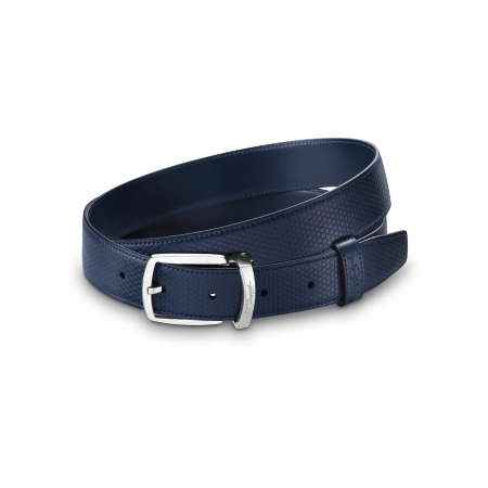 S.T. Dupont Tony Stark Belt, Blue Leather
