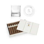 Davidoff Winston Churchill Robusto Set, Box of 20 + 2 Glass Set