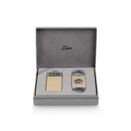 Zino Z-Collection Set, Cream Lighter & Cutter