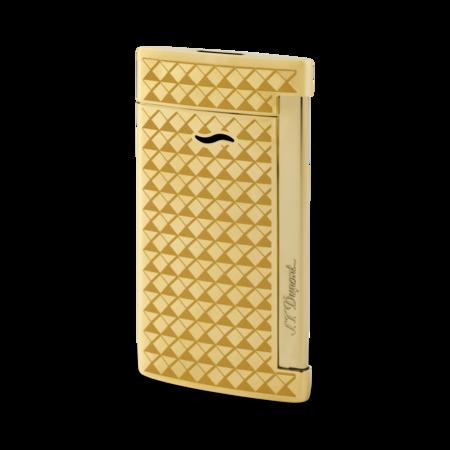 S.T. Dupont Slim 7 Lighter, Gold Fire Head