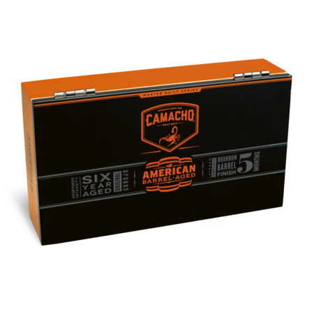 Camacho American Barrel Aged Robusto, Box of 20 Tubos