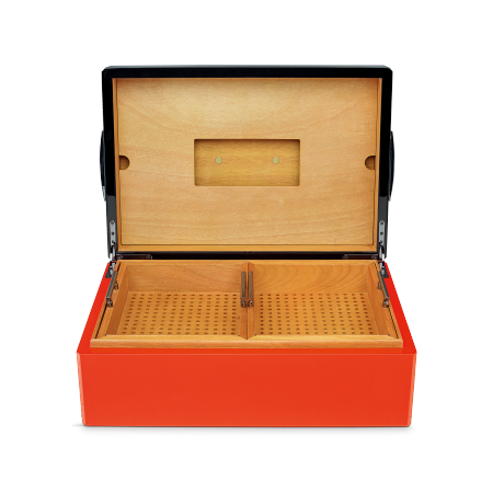 Camacho Strongbox Humidor, Black/Red