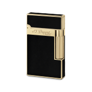 S.T. Dupont Ligne 2 'Chinese Lacquer' Lighter, Black Lacquer / Yellow Gold