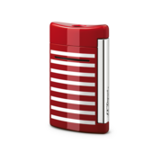 S.T. Dupont MiniJet Lighter, Red / White Stripes