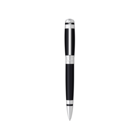 S.T. Dupont Line D Pen Black & Palladium Ring, Ball Point