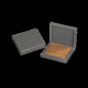 Davidoff Cigar Case Grey Exotic Ostrich, 1 Piece