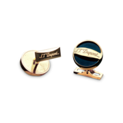 S.T. Dupont Cufflinks D Collection, Gold / Black