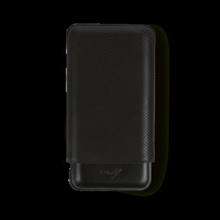 Davidoff Cigar Case Leaf, Black / 3 Cigars / XL