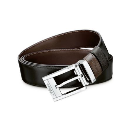 S.T. Dupont Belt Reversible Black / Brown, Delta Box / Palladium