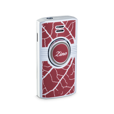 Zino Lighter 'Graphic Leaf', Red/Grey