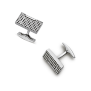 S.T. Dupont Cufflinks Diamond Head Collection, Palladium