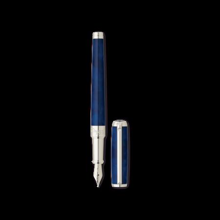 S.T. Dupont Line D Pen Atelier Blue, Medium Fountain Pen