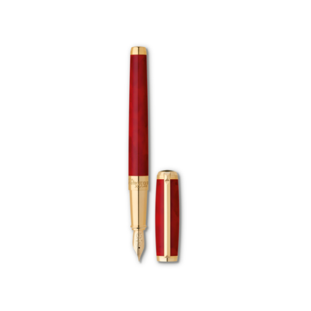 S.T. Dupont Line D Pen Atelier Red, Fountain / Fine