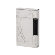 S.T. Dupont Ligne 2 Lighter Vitruvian Man, Palladium / Black