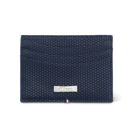S.T. Dupont Tony Stark Wallet, Blue Leather 8 Credit Card Holder