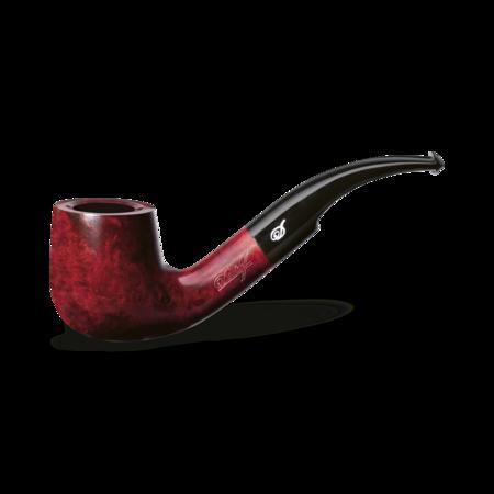 Davidoff Pot Bent Pipe, Brilliant Red