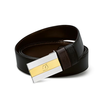 S.T. Dupont Belt Reversible Black / Brown, Delta Large Box / Bicolor