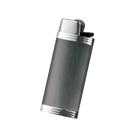 Davidoff Mini Lighter Sleeve, Anthrazite / Stainless Steel
