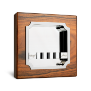 Davidoff Ashtray 'de Luxe', Rosewood / Palladium