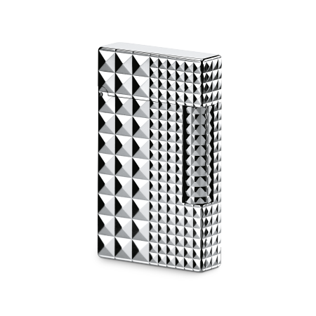 S.T. Dupont Ligne 2 'Precious Metals' Lighter, Palladium Diamond Head