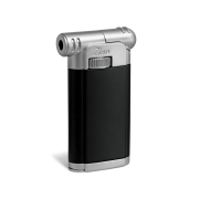 Zino Pipe Lighter, Black / Matt Chrome