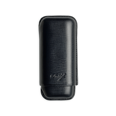 Davidoff Cigar Case Black, 2  Cigars / R