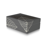 Zino Humidor 'Graphic Leaf', Grey