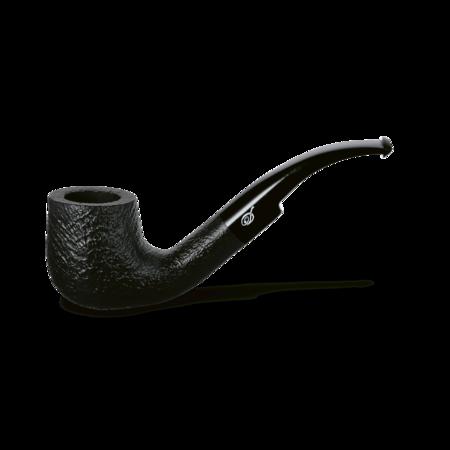 Davidoff Pot Bent Pipe, Sandblasted Black