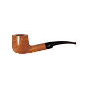 Davidoff 9mm Pot Half Bent Pipe, Natural