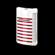 S.T. Dupont MiniJet Lighter, White / Red Stripes