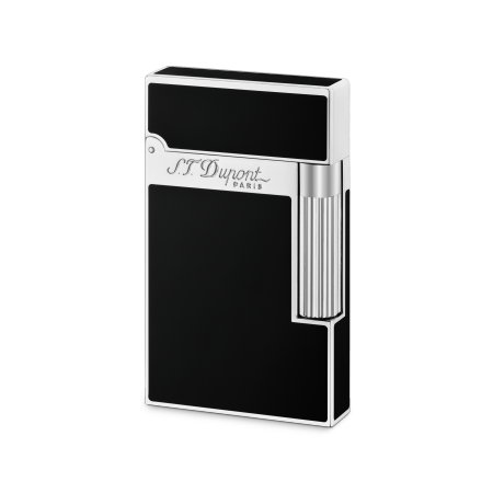 S.T. Dupont Ligne 2 'Chinese Lacquer' Lighter, Black Lacquer / Palladium